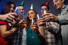 Birthday cheers Stock Photos