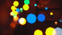 Abstract Blurred Christmas Lights Bokeh Background. 4K Stock Footage