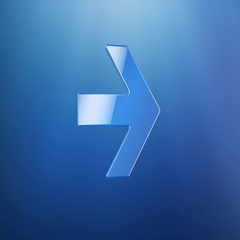 Arrow Right Blue 3d Icon Stock Footage