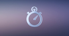 Stop Watch Silver 3d Icon Stock Footage