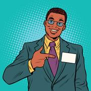 Businessman Manager with a name badge Stock Illustration