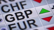 British pound. Up. Looping. Stock Footage