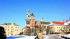 The Wawel castle, Krakow, Poland Stock Footage