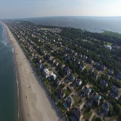 Outer Banks Aerial - Slow Descent Stock Footage