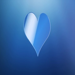 Like Heart Blue 3d Icon Stock Footage