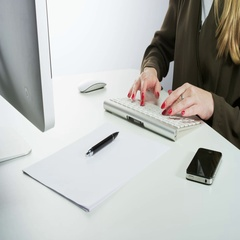 Woman Typing and Using a Mobile Phone Stock Footage