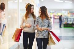 Shopping addict Stock Photos