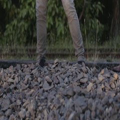Workers hitting rocks Stock Footage
