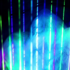 Laser Beams with Smoke and Fog. Stock Footage