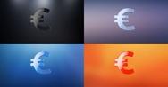 Euro 3d Icon Stock Footage