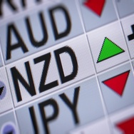 New Zealand dollar. Up. Looping. Stock Footage