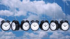 Clock alarm 3D. Time concept. Stock Illustration
