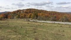 Highway around Kotel during Autumn Stock Footage