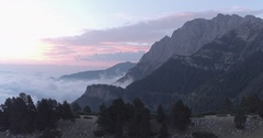 Mountain Sunrise Pink Sky Tracking Stock Footage