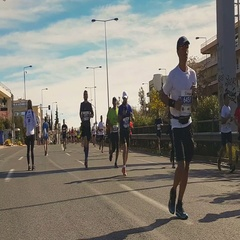 Classic Marathon race in Greece with people from all around the world. Stock Footage