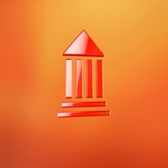 Bank Red 3d Icon Stock Footage