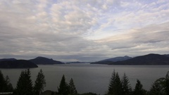 Dramatic timelapse of clouds sweeping over Howe Sound in Lions Bay. Stock Footage