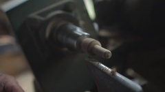 Woodturning worker Stock Footage