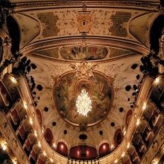 Croatian National Theatre loggias Stock Footage