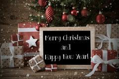 Nostalgic Tree, Christmas And New Year Snowflakes Kuvituskuvat