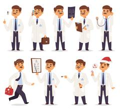 Doctor character vector isolated Stock Illustration