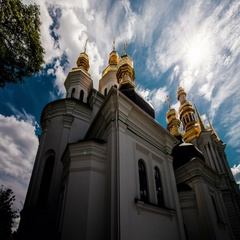 Time lapse of the Kiev-Pechersk Lavra Kiev church, monastery, religion Stock Footage