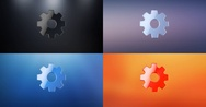 Gear 3d Icon Stock Footage