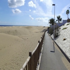 Island dunes. Gran Canaria. Spain Stock Footage
