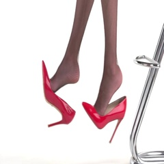 Legs and red heel shoes. Stock Footage