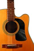 Acoustic Guitar with Vinyl Record for a Pick Guard Stock Photos