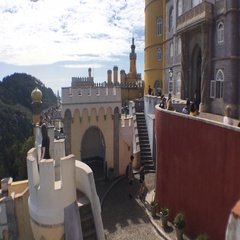 Towers From Pena Castle In Sintra, Portugal Stock Footage