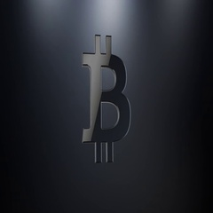 Bitcoin Black 3d Icon Stock Footage