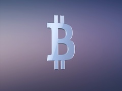 Bitcoin Silver 3d Icon Stock Footage