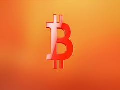 Bitcoin Red 3d Icon Stock Footage