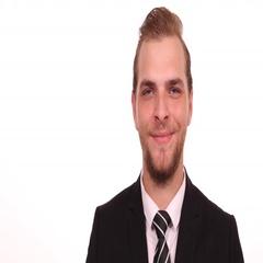 Happy Business Man Hand Gestures Salute Confident Looking Camera Office Indoor Stock Footage
