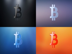 Bitcoin 3d Icon Stock Footage