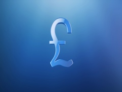 Great Britain Pound Blue 3d Icon Stock Footage