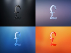 Great Britain Pound 3d Icon Stock Footage