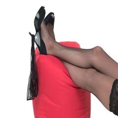 Panties hanging on heel shoe. Stock Footage
