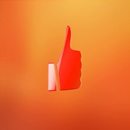 Like Button Red 3d Icon Stock Footage