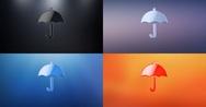 Umbrella 3d Icon Stock Footage