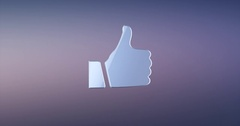 Like Button Silver 3d Icon Stock Footage