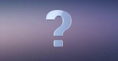 Question Mark Silver 3d Icon Stock Footage