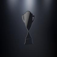 Winner Trophy Black 3d Icon Stock Footage