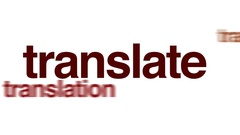 Translate animated word cloud. Stock Footage
