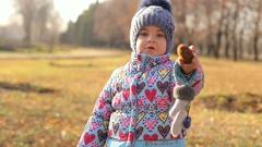 Portrait of a little girl which shows the bump on the camera. Stock Footage