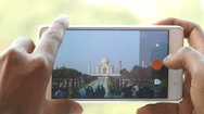Taj Mahal in Phone Stock Footage