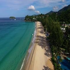 Aerial: Kata Noi beach. Phuket. Thailand. Stock Footage