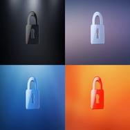 Lock 3d Icon Stock Footage