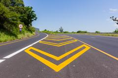 Road Highway Paint Markings Kuvituskuvat